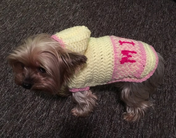 Dog Sweaterhoodiehandmade Clothes For Petname Printed Etsy