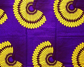 56e33eb61b3d0 African print fabric sold by yard Yellow purple African fabric abstract print  fabric fashion African fabric ethnic wax print cotton material
