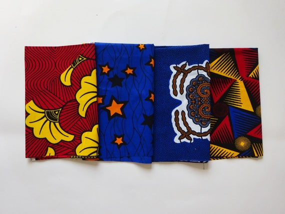 FAT QUARTERS Set of 4 different African prints