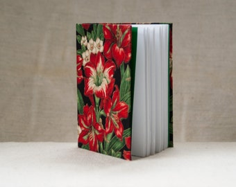 Journal, notebook covered with floral fabric, handmade 5 Eur off!