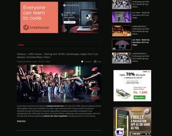 Music Blog, Music Blog Website, Video Blog, Video Blog Design, Custom WordPress Blog Design, WordPress Blog Template, WordPress Blog Theme
