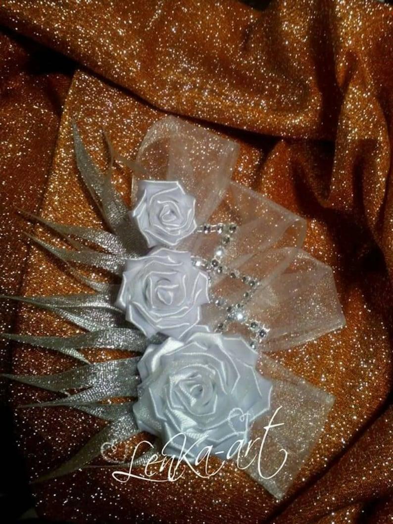 wedding comb kanzashi Fascinators roses flower kanzashi wedding  hair headdress