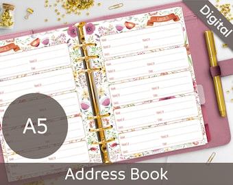 refillable address book etsy