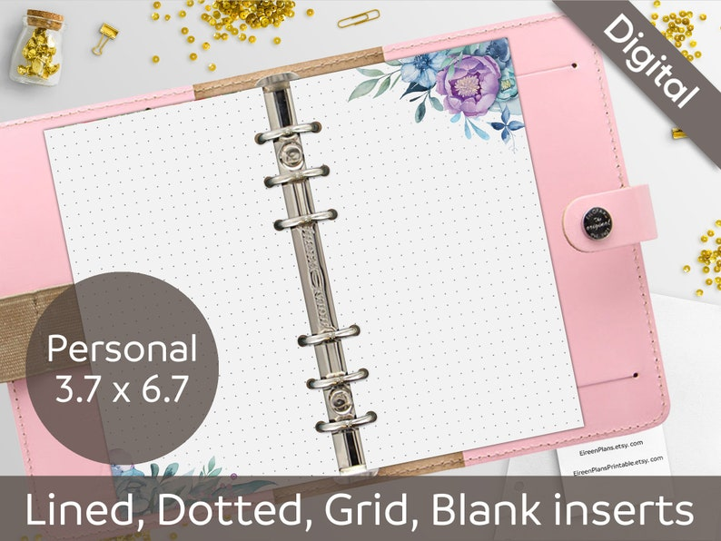 photograph relating to Free Printable Journal Pages Lined identify Individual Ring Inserts Floral Printable Notes, Dotted, Included, Grid, Blank, Bullet Magazine, Creating Paper, Journaling, Printable Internet pages, PDF