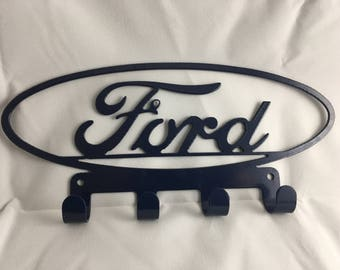 FORD (Style 1) Key / Towel / Coat Rack Cnc Plasma cut & powder coated with choice of colours and style