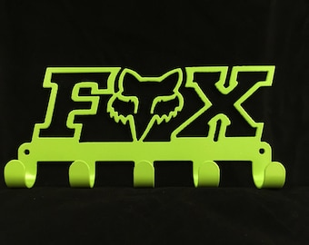 FOX logo Key Rack CNC Plasma cut & powder coated with choice of colours and style
