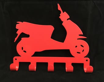SCOOTER logo Key Rack CNC Plasma cut & powder coated with choice of colours and style