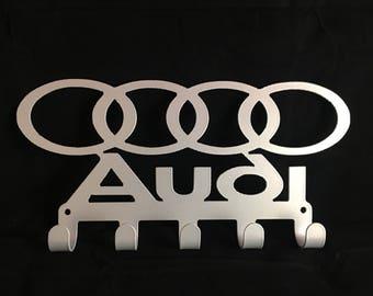 AUDI Key / Towel / Coat Rack Cnc Plasma cut & powder coated with choice of colours and style