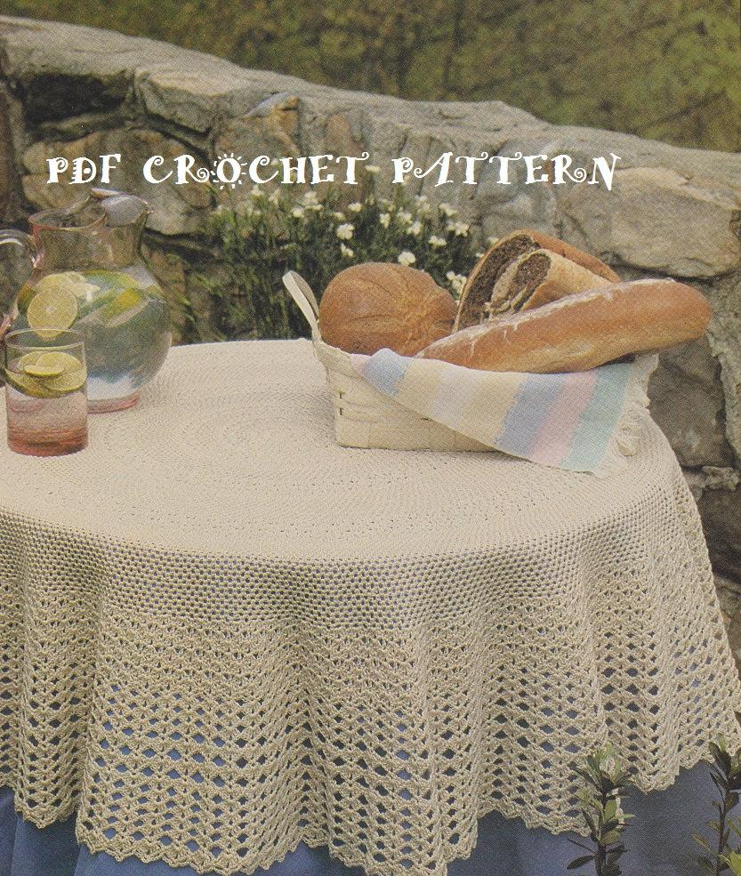 Crochet Round 54 Tablecloth Pattern Kc0686 Advanced Etsy