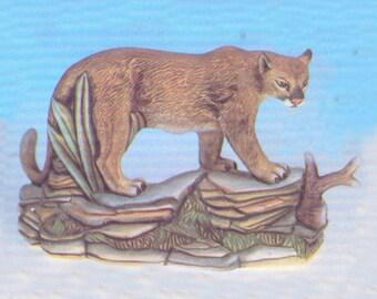35a41b035c3f Ceramic Bisque U-Paint Puma Cat on a Rock Base Unpainted Ready To Paint DIY  Trenton
