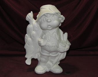 Ceramic Bisque U-Paint Pedestal Holder and Small Gazing Ball Unpainted Ready To Paint DIY Mystical Fantasy Doc Holliday