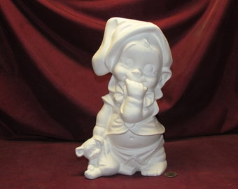 Ceramic Bisque Byron Baby with Bum Showing Ready to Paint U-Paint Diaper Bear