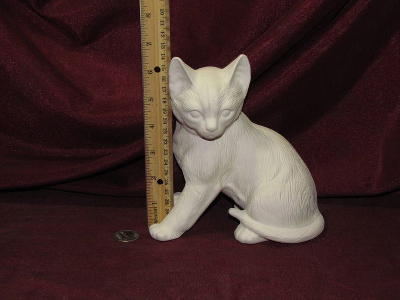 Bisque Unpainted, Ready for Glaze Cat Bank