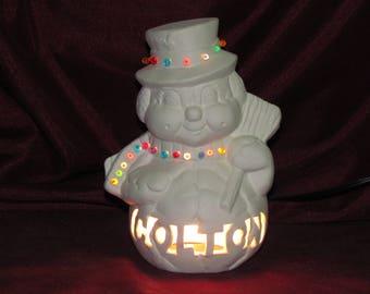 Snowman lamp etsy greentooth Gallery