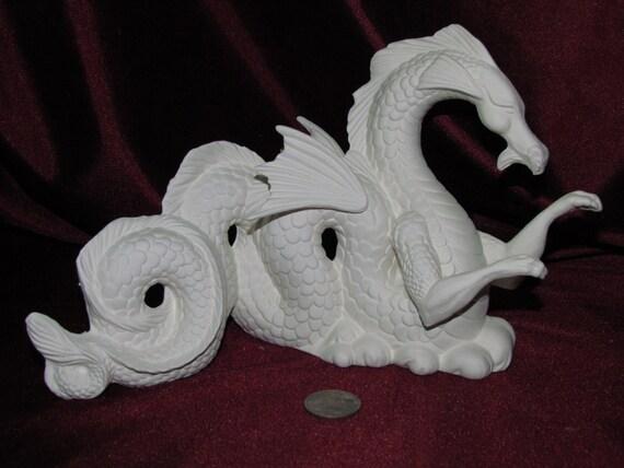 Ready to Paint Ceramic U Paint Ceramic Bisque Dragon Dragon Ceramic Dragon Mystical Dragon Ceramic