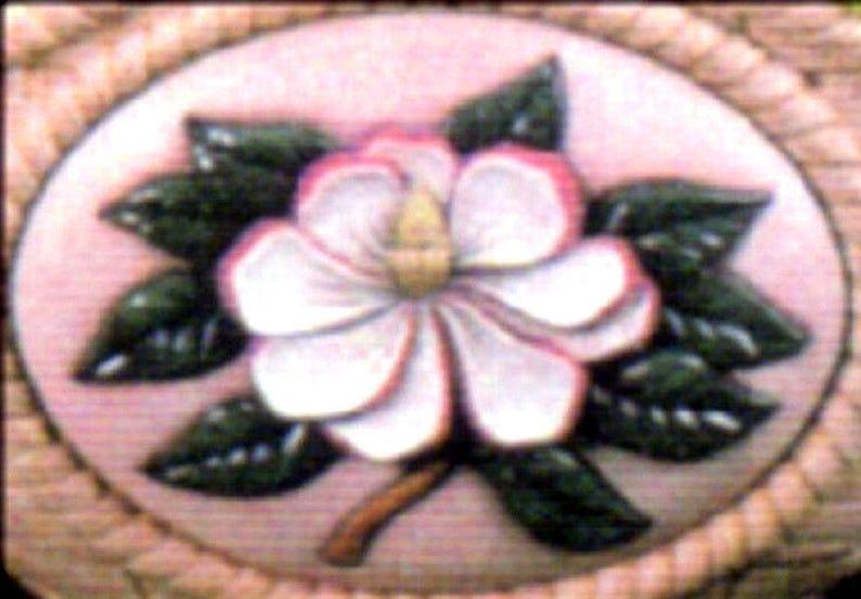 Magnolia Unpainted Ready To Paint DIY Flower Ceramic Bisque U-Paint Set Of 2 Dona/'s Seasons Inserts