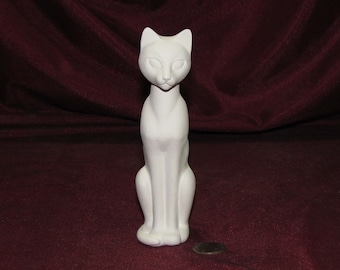 Ceramic Bisque U-Paint Kitty Cat Unpainted Ready To Paint DIY
