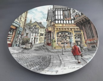 Royal Doulton collectible plate - The Bakers Shop 1990, part of the 'Window Shopping' series