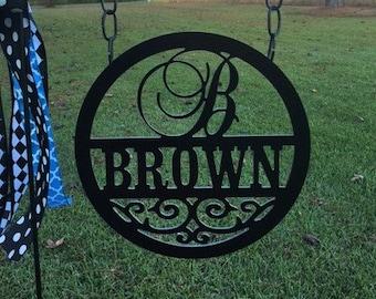 Monogram Yard Sign Camp Sign Monogram Established Sign Personalized Yard Sign ACM Yard Sign Birthday Housewarming Wedding Yard Sign