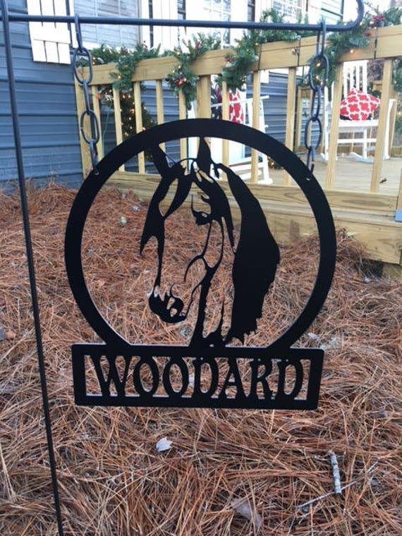 Monogram Garden Flag Horse Garden Flag Monogram Garden Sign | Etsy