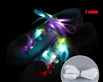 Glowing Shoelaces Multicolor Flashing Luminous Outdoor Party Kit Shoestrings,LED