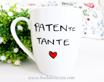 Cup for your godmother, GODFATHER AUNT, coffee cup, coffee cup, mug, patentante cup, gift godmother, cup godmother