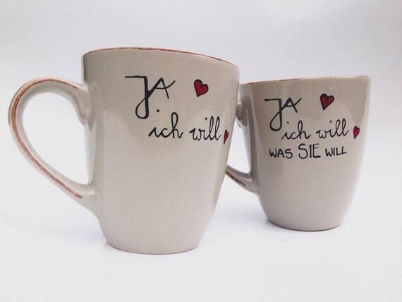 Ja Ich Will Hochzeit Hochzeitsgeschenk Tasse Handbemalt Etsy
