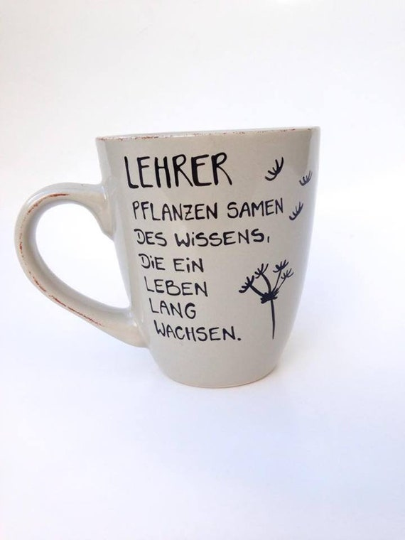 geschenk f r lehrer tasse danke lehrerin schule danke etsy