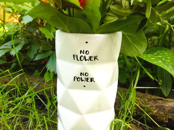 grosse Blumenvase Vase Spruch Flower Power | Etsy