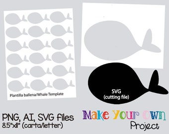 whale template etsy