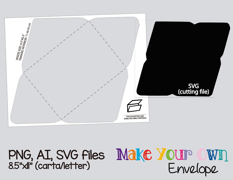 Sobre plantilla instantánea collage digital plantilla | Etsy