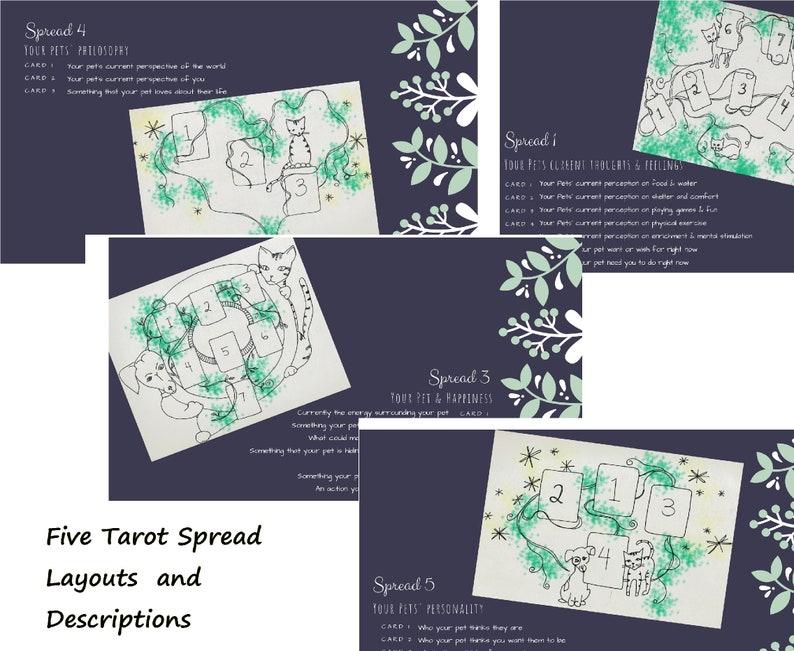 Tarot Card Printable, Pet Reading, Tarot Spread, Divination Tool, Digital  Download, Tarot for dog or cat, Tarot Layout, Tarot Spread Pets