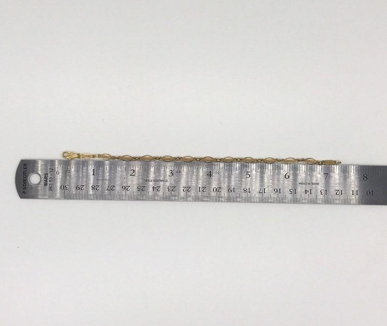 Vintage 14k Solid Gold Filigree Link Bracelet Da