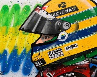 Ayrton Senna - Graffiti Painting