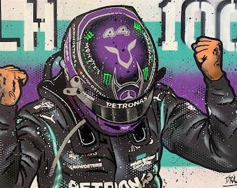 Lewis Hamilton, 100th win - Graffiti Painting