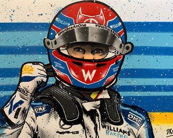 George Russell, Williams - Graffiti Painting