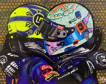 Ricciardo & Norris McLaren 1-2 - Graffiti Painting