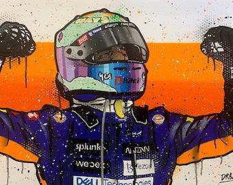 Daniel Ricciardo, Monza 2021 - Graffiti Painting
