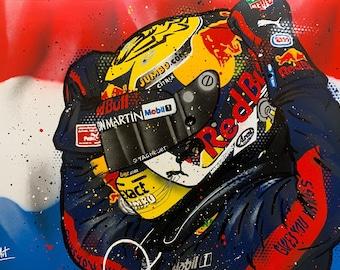 Max Verstappen - Graffiti Painting