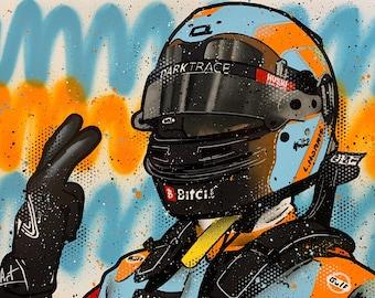 Lando Norris, Gulf Monaco 2021 - Graffiti Painting