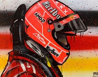 Michael Schumacher - Graffiti Painting