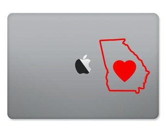 Georgia Love Outlined Sticker for MacBooks and Apple Devices