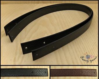 2 bag handles, leatherette 2 colors available, cm.55