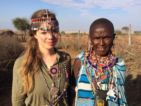African Masai Beaded Traditional Wedding Necklace Kenya