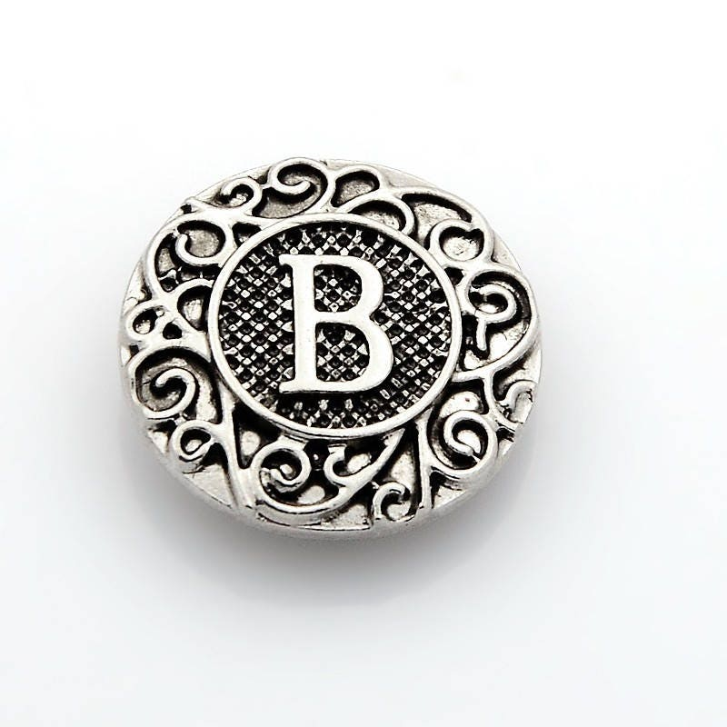 Fits Ginger Snap Ginger SNAPS LETTER R Initial Magnolia Vine JEWELRY 18mm Button
