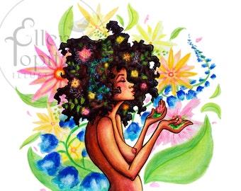 Spring Is In The Hair - Medium Print