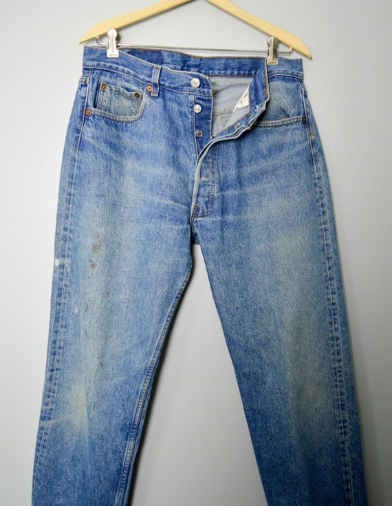 RARE 501-0113 Levis Jeans 33/34, Made in the USA,… - image 4