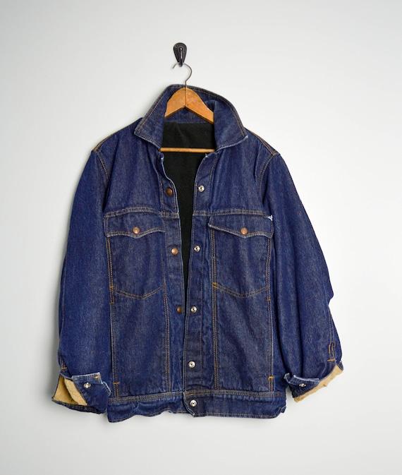 90s Lined Denim Jacket, Oversized Jean Jacket, 90s