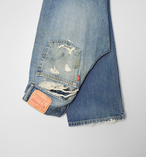 Vintage Trashed 527 Levis Jeans 31, 90s Levis, Vi… - image 6