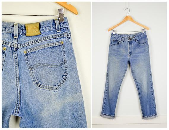 Vintage heren Lee jeans, 33X30, vintage kleding, jaren 90 kleding, vriendje jeans, gekleurd jeans, jaren 90 Jeans, jaren 90 kleren, grunge jeans